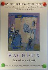WACHEUX expose Galerie Berlioz à Sausset AFFICHE ORIGINALE/11bPB