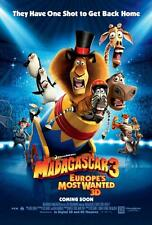 MADAGASCAR 3: EUROPE'S MOST WANTED ORIGINAL 27x40 MOVIE POSTER (2012) STILLER