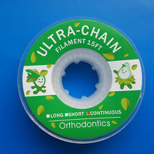 Dental Orthodontic Elastic Ultra Power Chains Continuous Closed Clear 15 Feet CE