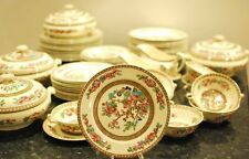 Large Dinner Service 63 Pieces China Ye Olde Indian Tree Bridgewood England 5800