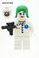 Custom Batman Joker As Nurse with Weapon Made With LEGO Parts NEW