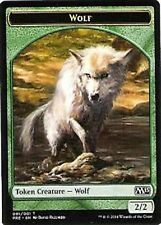 Wolf Token Card x4  M15  2015 PreRelease  Challenge   MTG Magic Green 2/2