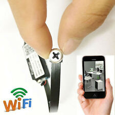 Spy Cam WiFi wireless IP Camera DIY Mini DVR Hidden Screw Lens camera