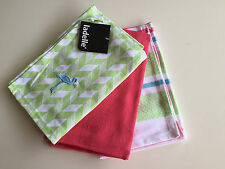 Madison Flamingo Green Tea Towels - Set of  3 by Ladelle