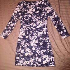 ZARA FLORAL SIZE XS PRINTED DRESS SHORT BLUE STYLISH OFFICE FASHION DATE DINNER