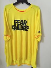 Big&Tall Mens Addidas 100% Polyester Graphic S/S Crew Neck Tee 4X Yellow