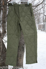 M-65 Winter Pants Liner Quilted. Olive Drab  Size-  2X-large