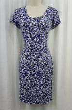 Calvin Klein Dress Sz 4 Byzantine Blue Grey Multi Jersey Business Casual Dress