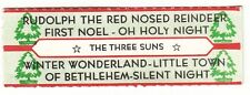 Juke Box Strip THE THREE SUNS - RUDOLPH THE RED NOSED REINDEER / FIRST NOEL - OH