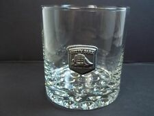 Cutty Sark whiskey glass pewter schooner REAL McCOY bubble base 10 oz