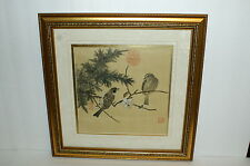 Vintage Chinese Painting On Silk With 3 Seals