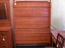 Antique Oak Victorian East Lake Bed with Rails., Excellent Condition.  5175