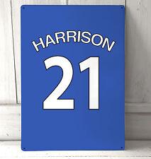 Azul Personalizado Chelsea Camiseta De Fútbol cartel A4 placa metal decoración