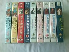 9 Black Adder Video VHS Tapes Series 1 to 4 & Black Adder Christmas Carol