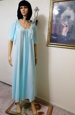 MISS ELAINE NWOT vintage Antron Nylon SEAFOAM Long Nightgown size M medium