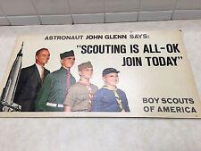 1960 VINTAGE ASTRONAUT JOHN GLENN BOY SCOUTS RECRUITING POSTER