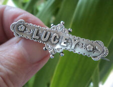 Victorian Sterling Silver Name Brooch h/m Birmingham 1894  -  LUCEY / Lucy