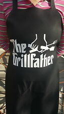 The GRILLFATHER Grilling Parody Funny Black Barbeque BBQ Gift Father's Day Apron