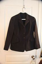 Ladies Navy RJ classics soft shell show coat size 8
