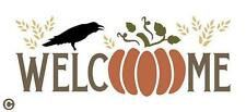 Primitive STENCIL, WELCOME Stencil Fall Thanksgiving Pumpkin Crow Autumn U Paint