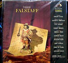 Verdi/Evans/Solti   Falstaff   3 lps  RCA Victor