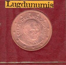 Vatican 2008 - 5 Centimes D'Euro - 91 400 exemplaires Provenant du BU RARE