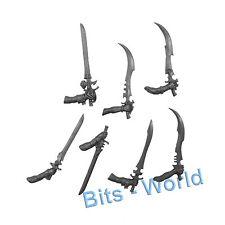 WARHAMMER 40K BITS: HARLEQUINS TROUPE - SWORDS 7x