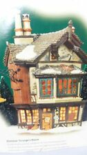 DEPT 56 DICKENS VILLAGE EBENEZER SCROOGE'S HOUSE 58490 - ANIMATED
