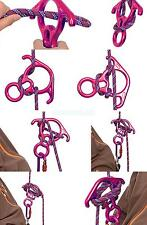 50KN Figure 8 Rappel Tree Rock Climbing Descender Belay Carabiner Safe Gear