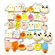 10Pack Soft Squishy Bread Random Jumbo Medium Mini Panda Cake Bun Phone Strap