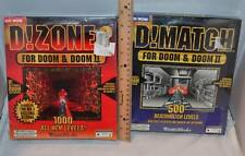 D!Match and D!Zone 2 PC Video Game for Doom & Doom II Lot in Big Box