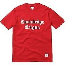 SUPREME Knowledge Reigns Tee Red M Box Logo safari camp cap kate moss S/S 13