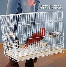 NEW Foldable Parrot Bird Travel Carrier Cage White 9202 / J601 - 280