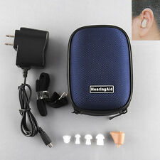 Rechargeable Digital Mini Hearing Aid Adjustable Tone Amplifier BOX Audiphone