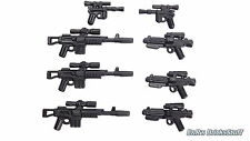 BrickArms Star Wars™ Waffen Blaster E-11 A295 DL44 Set, Custom für LEGO® Figuren