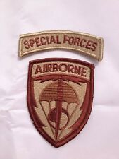 US United States Special Forces Airborne Embroidered Military Patch - US019