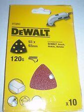 DEWALT Elu fogli abrasivi x10 120g per dettagli Sanders d26430 Bosch Makita Metabo
