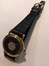 Corum -Lady's Swiss, 18 Karat Yellow Gold- Diamond Pave Watch