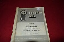 International Harvester T4 T5 TD5 Crawler Tractor Specification Shop Manual HMPA