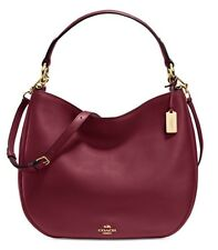 NWT Coach Nomad Hobo in Burgundy/Gold Glove tanned Leather #36026~ $495