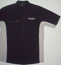 Mens L Harley-Davidson University Button Front SS Shirt Rayon Polyester Spandex