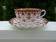 Spode FLEUR DE LYS RED Y7481 Cup And Saucer