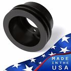 Black Aluminum 3 Bolt Ford Crankshaft Pulley 289 302 V-Belt SBF Crank 2 Groove