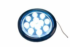 """2 Sets of 4"""" Inch White 12 LED Round Stop Turn Tail Truck Light +Grommet+wiring"""