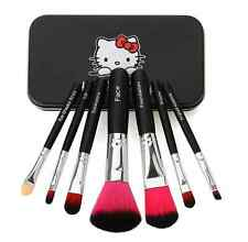 2017 Newest Black Hello Kitty 7Pcs Makeup Brush Set Mini Size Professional
