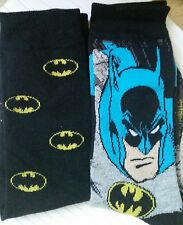 NEW IN BOX MENS 1 Pair (2) DC Comics BATMAN sz 10-13 Socks LICENSED