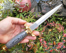 Traditional Medieval BLACK HANDLED ATHAME Ritual Knife Sheath Wicca Pagan Witch