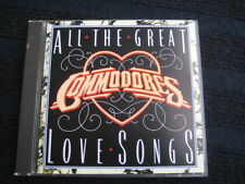 CD  COMMODORES  All the great Love Songs  1st press Motown ZD72222 first print