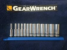 GearWrench  13 Piece 1/4-Inch Drive 6 Point Deep Metric Socket #80304 Set
