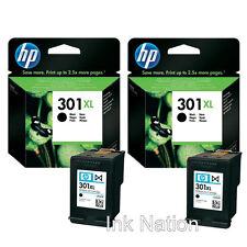 2x Genuine Original HP 301XL Black Ink Cartridges For Deskjet 3050ve Printer